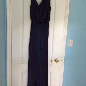 Gorgeous navy blue evening gown